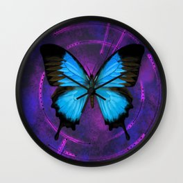 Space Butterfly Wall Clock