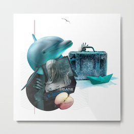 BREATHE (Totem of the Dolphin) Metal Print
