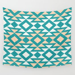 Southwest Pattern - Turquoise Wall Tapestry