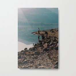 strangers fishing Metal Print