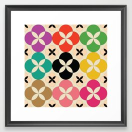 Geometric Flower #2 Framed Art Print