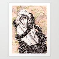 Engulfed. Art Print