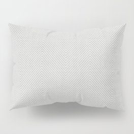 Stitch Weave Geometric Pattern in Grey Pillow Sham