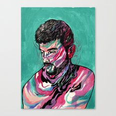 Few colors Left Canvas Print