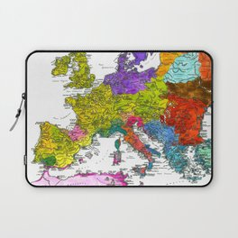 The Peoples of Europe According to Ptolemy Laptop Sleeve