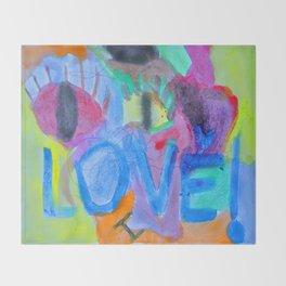 Summer Love | Painting by Elisavet Throw Blanket