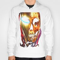 iron man Hoodies featuring Iron Man by Isaak_Rodriguez