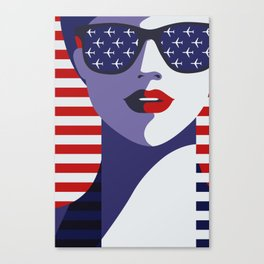 American Stewardess Canvas Print