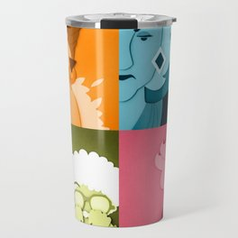 The Golden Girls Abstract Travel Mug