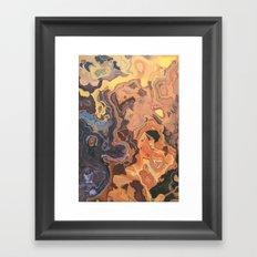 BURN TECHNOLOGY BURN Framed Art Print