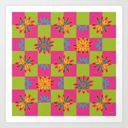 Paracas flowers I Art Print