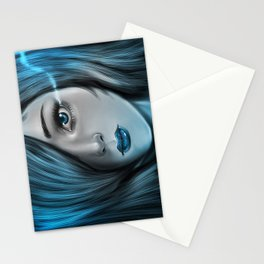 Blue Tear Stationery Cards