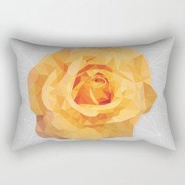 Amber Poly Rose Rectangular Pillow