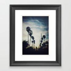 December evening Framed Art Print