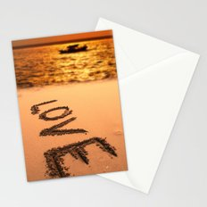 Love Written in the Sand Stationery Cards
