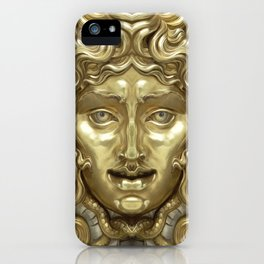 """""""Ancient Golden and Silver Medusa Myth"""" iPhone Case"""