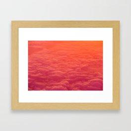 The Pink Clouds (Color) Framed Art Print