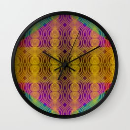 Coarse-meshed yellow pattern ... Wall Clock