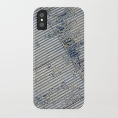 Warehouse District -- Rustic Farm Chic Abstract iPhone X Slim Case