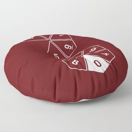 Red Unrolled D10 Floor Pillow
