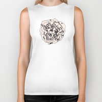 damask Biker Tanks featuring Damask Rose by Katie Acheson Wolford