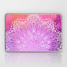 mandala on pink texture Laptop & iPad Skin