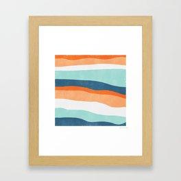 venice sunset Framed Art Print