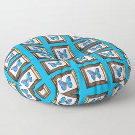 HOMEMADE BLUE BUTTERFLY PATTERN Floor Pillow