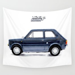 POPCULTURAL ICON OF POLAND - FIAT 126 Wall Tapestry