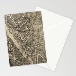 Vintage Pictorial Map of Littleton NH (1883) Stationery Cards