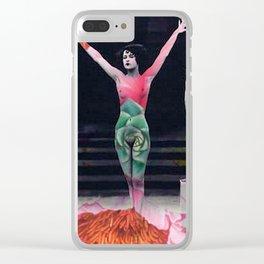 Dazed Ziegfield Gals Clear iPhone Case