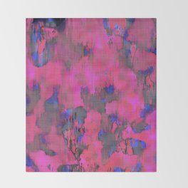 Lysergic Pink Throw Blanket