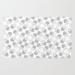 tesla in a turban tessellation Rug