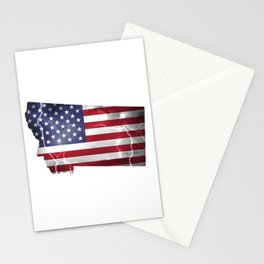 My Heart is in Montana State United States Stationery Cards