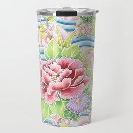 Pastel Kimono Bouquet Travel Mug