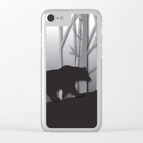 Walking Bear Clear iPhone Case