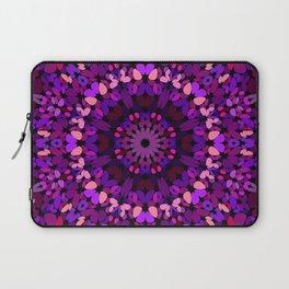Purple Petal Garden Mandala Laptop Sleeve