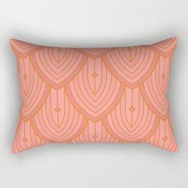 Deco Peacock - Blush Rectangular Pillow