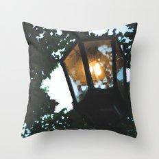 gas lamp, summer walks. Throw Pillow