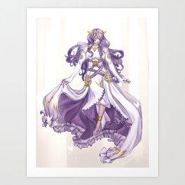 Adrift goddess Art Print