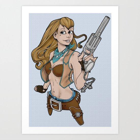 Sassy Gunslinger Girl Art Print