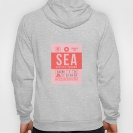 Baggage Tag B - SEA Seattle Tacoma USA Hoody