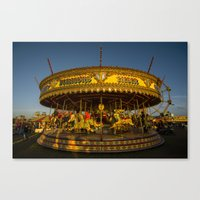 carousel Canvas Prints featuring Carousel  by Rob Hawkins Photography