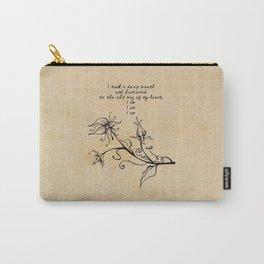 Sylvia Plath - I am Carry-All Pouch
