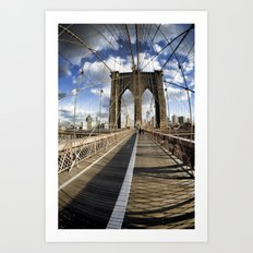Brooklyn Bridge afternoon Art Print