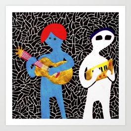 Pony rockers playing music Art Print