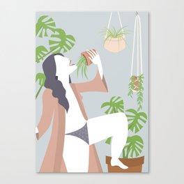 Singing Plant Lady Canvas Print