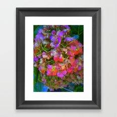 Flower Skeleton Framed Art Print