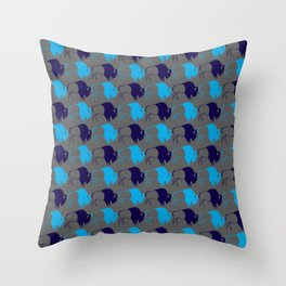 Blue Buffalo Nation Throw Pillow