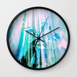 Irridescent Glass Wall Clock